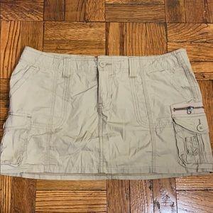 2 for $15 Aeropostale utility khaki mini skirt